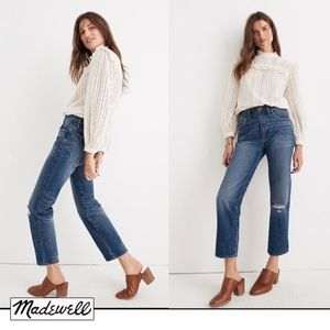 Madewell Classic Straight Jeans in Jade Wash